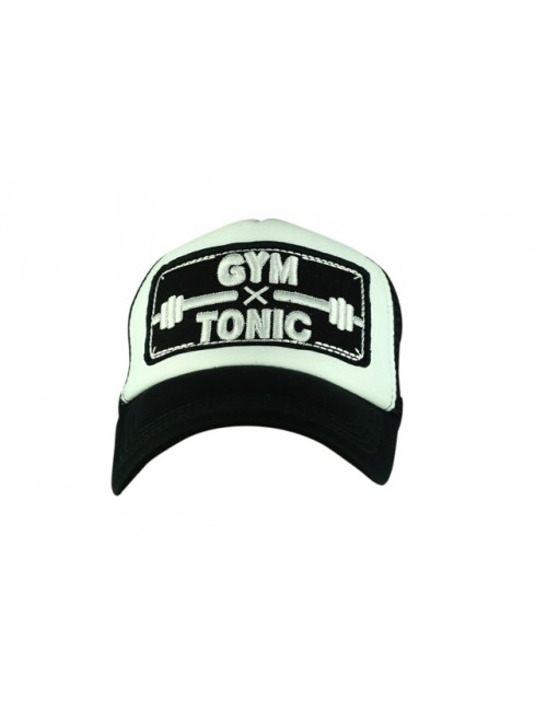 GYM TONIC half mesh trucker cap with adjustable snaps