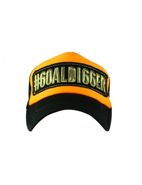 GOALDI66ER half mesh trucker cap with adjustable snaps .