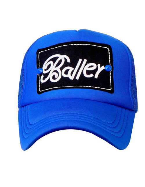 BALLER half mesh trucker cap with adjustable snaps