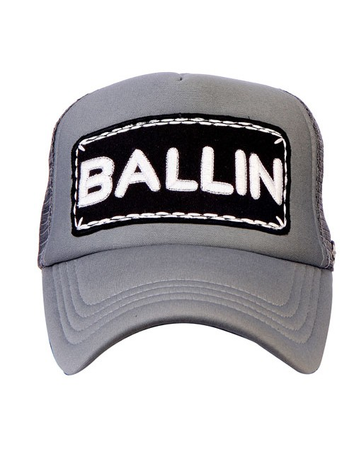 BALLIN half mesh trucker cap with adjustable snaps