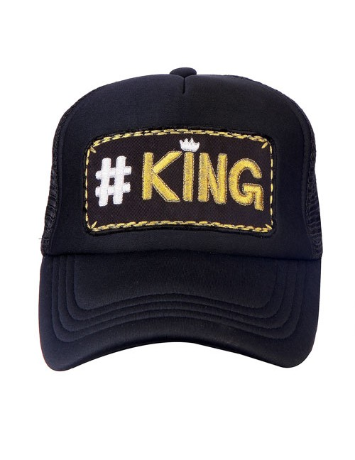 #KING GOLD  half mesh trucker cap with adjustable snaps