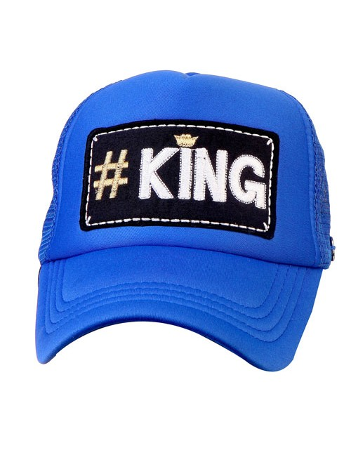 #KING half mesh trucker cap with adjustable snaps