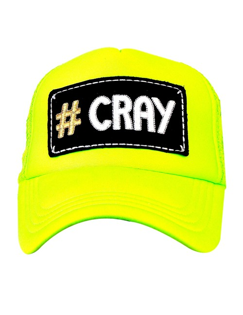 CRAY  half mesh trucker cap with adjustable snaps