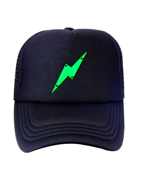 GREEN BOLT METAL  ACCESSORY half mesh trucker cap with adjustable snaps